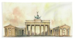 Brandenburger Tor, Berlin Beach Towel by Juan Bosco