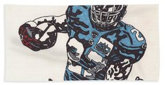Brandon Jacobs 1 Beach Sheet by Jeremiah Colley