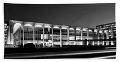Brasilia - Itamaraty Palace - Black And White Beach Towel