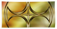 Brass Design 6 Beach Towel