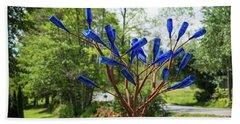 Brass Tree, Blue Bottle Leaves Beach Towel
