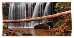 Brasstown Falls 002 Beach Towel by George Bostian