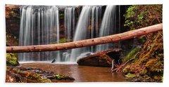 Brasstown Falls 002 Beach Sheet by George Bostian