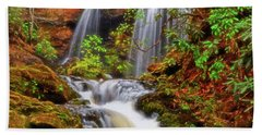 Brasstown Falls 013 Beach Towel by George Bostian