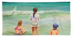 Beach Sheet featuring the painting Brats by Patricia Piffath