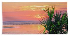 Breach Inlet Sunrise Palmetto  Beach Towel