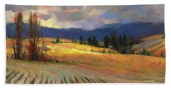 Beach Towel featuring the painting Break In The Weather by Steve Henderson