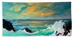 Breakers Beach Towel by Holly Martinson