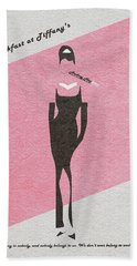 Breakfast At Tiffany's Beach Towel by Ayse Deniz