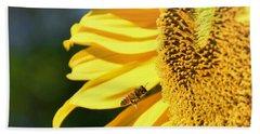 Breakfast Bee Beach Sheet by Angela J Wright
