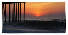 Breaking Sunrise Beach Towel
