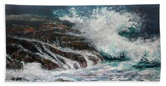 Breaking Wave Beach Towel