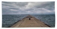 Breakwall Clouds Beach Towel
