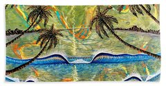 Breathe In Clarity  Beach Towel