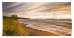 Beach Sheet featuring the digital art Breathtaking Beach by Anthony Fishburne