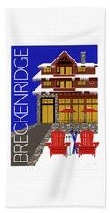 Beach Towel featuring the digital art Breckenridge Blue by Sam Brennan