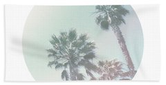 Breezy Palm Trees- Art By Linda Woods Beach Towel by Linda Woods