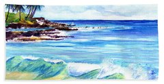 Beach Sheet featuring the painting Brennecke's Beach by Marionette Taboniar