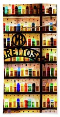 Brettos Bar In Athens, Greece - The Oldest Distillery In Athens Beach Towel