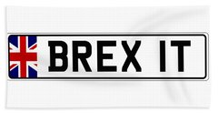 Brexit Number Plate Beach Sheet