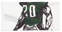 Beach Sheet featuring the drawing Brian Dawkins 3 by Jeremiah Colley