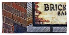 Beach Towel featuring the photograph Brick Bar by Nikolyn McDonald