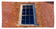 Brick House Window Beach Towel