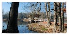 Beach Sheet featuring the photograph Brick Pond Park by Kay Lovingood
