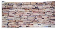 Beach Towel featuring the photograph Brick Tiled Wall by John Williams