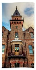 Beach Towel featuring the photograph Brick Tower by Perry Webster