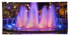 Bricktown Fountain Beach Towel