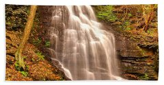 Bridal Veil Falls Beach Towel by Nick Zelinsky