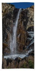 Bridal Veil Falls On Ice Beach Towel