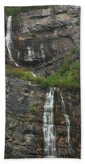 Bridal Veil Falls Provo Canyon Utah Fine Art Photograph Beach Towel