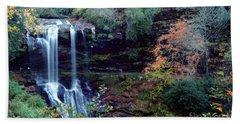 Bridal Veil Waterfalls Beach Towel by Debra Crank