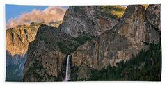 Bridalveil Falls From Tunnel View Beach Towel