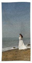 Bride By The Sea Beach Towel