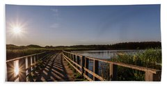 Bridge Across Shining Waters Beach Towel
