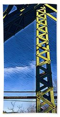 Bridge At Guerneville Beach Towel