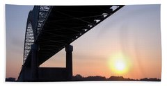 Bridge Over Mississippi River Beach Sheet