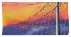 Bridge Detail At Sunrise Beach Towel