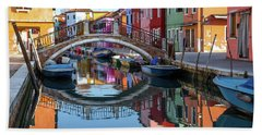 Bridge In Burano  Beach Towel