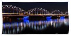 Bridge In Riga  Beach Sheet