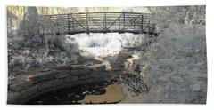 Bridge In Shades Of Infrared Beach Sheet