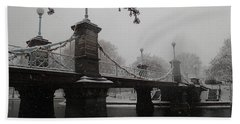 Bridge In Suspension 1867 Beach Towel
