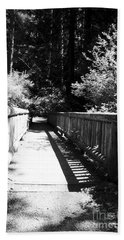 Bridge In Woods Beach Towel