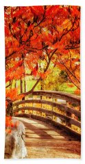 Bridge Of Fall Beach Towel by Kristal Kraft