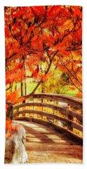 Beach Sheet featuring the photograph Bridge Of Fall by Kristal Kraft