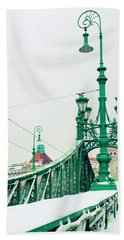 Bridge Of Liberty In Budapest Beach Towel by Anastasy Yarmolovich