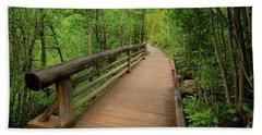 Bridge On Alberta Falls Trail Beach Towel by John Roberts